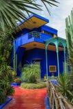 Een deel van de villa Majorelle in Marrakech, Marokko stock foto