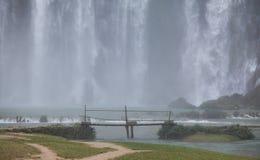 Een deel van de waterval van Verbodsgioc in Vietnam Stock Foto