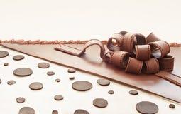 Een deel van een Chocoladecake royalty-vrije stock foto's
