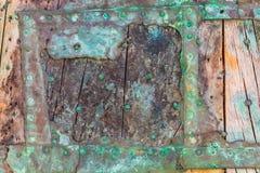 Een deel van een doorstaan schipwrak royalty-vrije stock afbeelding