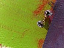 Een deel van een grote kleurrijke straatgraffiti stock foto