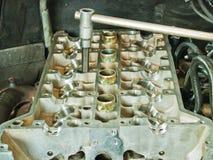 Een deel van een motor van een auto stock fotografie