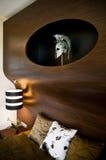 Een deel van een ontwerpslaapkamer Royalty-vrije Stock Afbeeldingen