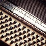 Een deel van een oude harmonika royalty-vrije stock foto's
