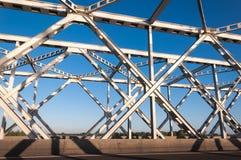 Een deel van een oude Nederlandse bundelbrug Stock Fotografie