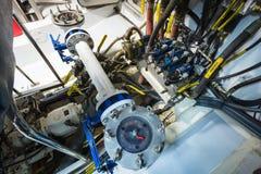 Een deel van een systeem van de brandstoflevering en de motor Royalty-vrije Stock Fotografie