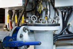 Een deel van een systeem van de brandstoflevering en de motor Royalty-vrije Stock Foto's