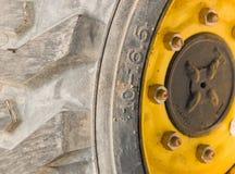 Een deel van een wiel van een baggermachine Royalty-vrije Stock Fotografie