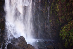 Een deel van een zeer hoge waterval stock afbeelding