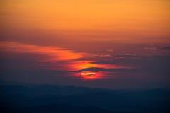 Een deel van een zonsondergangreeks Stock Afbeeldingen