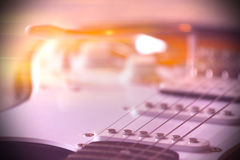 Een deel van elektrische gitaar Stock Fotografie