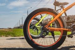 Een deel van een fiets stock foto's