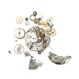 Een deel van gebroken horloge stock foto