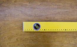 Een deel van geel bellenniveau Stock Foto