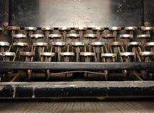 Een deel van geruïneerd toetsenbord Royalty-vrije Stock Foto's