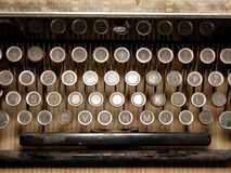 Een deel van geruïneerd toetsenbord stock foto