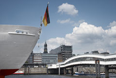 Een deel van Hamburg, met inbegrip van St. Michael Stock Fotografie