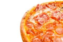 Een deel van heerlijke klassieke Italiaanse Pizza Vier seizoenen Stock Afbeeldingen