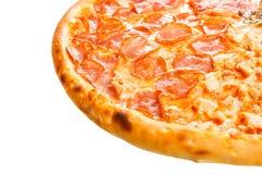 Een deel van heerlijke klassieke Italiaanse Pizza Vier seizoenen Royalty-vrije Stock Foto's