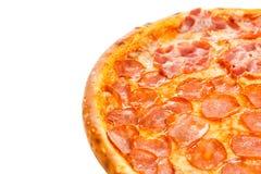 Een deel van heerlijke klassieke Italiaanse Pizza Vier seizoenen Royalty-vrije Stock Fotografie