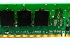 Een deel van het geheugenmodule van computerram royalty-vrije stock afbeelding