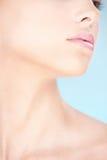 Een deel van het gezicht van een vrouw Stock Foto