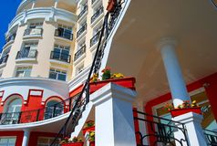 Een deel van het hotel Stock Foto