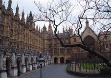 Een deel van het Huis van het Parlement, Londen Stock Foto's
