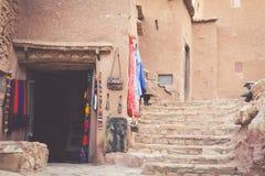Een deel van het Kasteel van Ait Benhaddou, een versterkte stad, forme Royalty-vrije Stock Foto