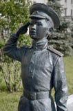 Een deel van het monument aan de helden van de film ' Officers' Stock Afbeeldingen