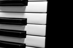 Een deel van het muzikale toetsenbord Stock Fotografie