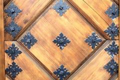 Een deel van houten deur royalty-vrije stock foto