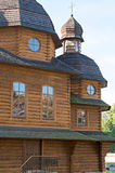 Een deel van houten kerk Stock Afbeeldingen
