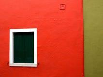 Een deel van huis in Burano stock foto