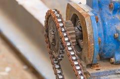 Een deel van hydraulisch systeem van een Kraan Royalty-vrije Stock Afbeeldingen