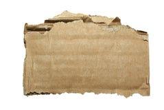 Een deel van karton. Stock Fotografie