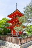 Een deel van kiyomizu-Deratempel in Kyoto, Japan royalty-vrije stock afbeelding