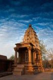 Een deel van Lakshmana-Tempel, Khajuraho, India - Unesco-wereldherita Stock Foto's