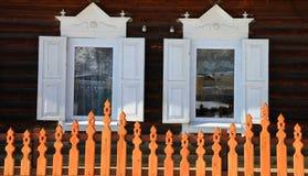Een deel van landelijk huis Stock Foto
