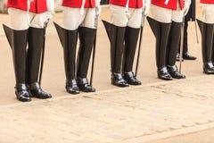 Een deel van lichaam, solider de laarzen van paardwachten in het UK Stock Afbeelding