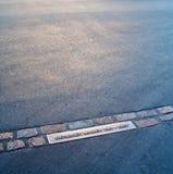 Een deel van lijn van de Muur van Berlijn Royalty-vrije Stock Afbeelding