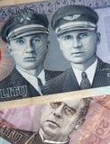 Een deel van Litouwse litas Stock Fotografie