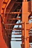 Een deel van machine van de tunnel de werkende bouw Royalty-vrije Stock Afbeeldingen