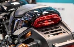 Een deel van moderne motorfiets royalty-vrije stock foto