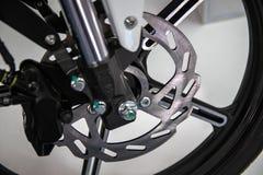 Een deel van moderne motorfiets stock afbeelding