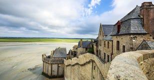 Een deel van mont-heilige-Michel Stock Foto's