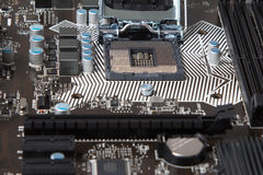 Een deel van motherboard Royalty-vrije Stock Fotografie