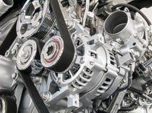 Een deel van motor van een auto Royalty-vrije Stock Foto's