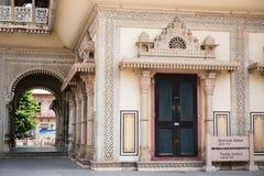 Een deel van Mubarak Mahal stock afbeelding