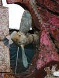 Een deel van een oud schip - zwaar doorstane schip-bout royalty-vrije stock foto